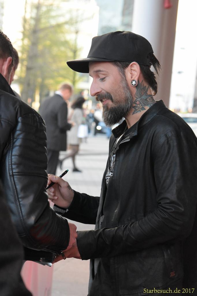 Frankfurt Germany, April 3rd 2017: Daniel Wirtz aka Wirtz arriving at the PRG LEA Live Entertainment Award at Festhalle. Frankfurt, Germany