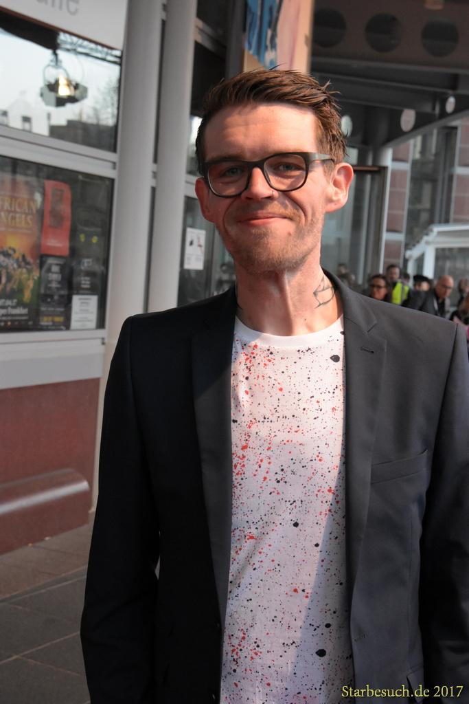 Frankfurt Germany, April 3rd 2017: Nicholas Müller (Von Brücken, Jupiter Jones) arriving at the PRG LEA Live Entertainment Award at Festhalle. Frankfurt, Germany