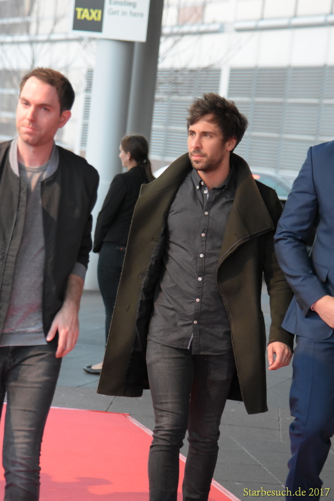 Frankfurt Germany, April 3rd 2017: Max Giesinger arriving at the PRG LEA Live Entertainment Award at Festhalle. Frankfurt, Germany