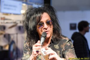 Frankfurt, Germany. 8th April 2017. guitarist Steve Stevens Musikmesse in Frankfurt, Germany