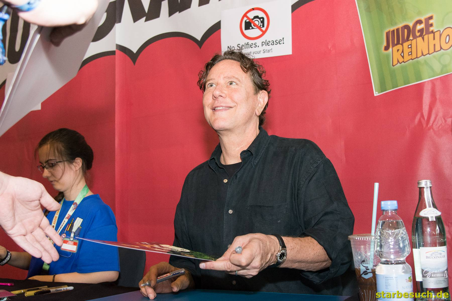 July 1st 2017. Stuttgart, Germany. US actor Judge Reinhold (Beverly Hills Cop) meeting fans and signing autographs at Comic Con Stuttgart