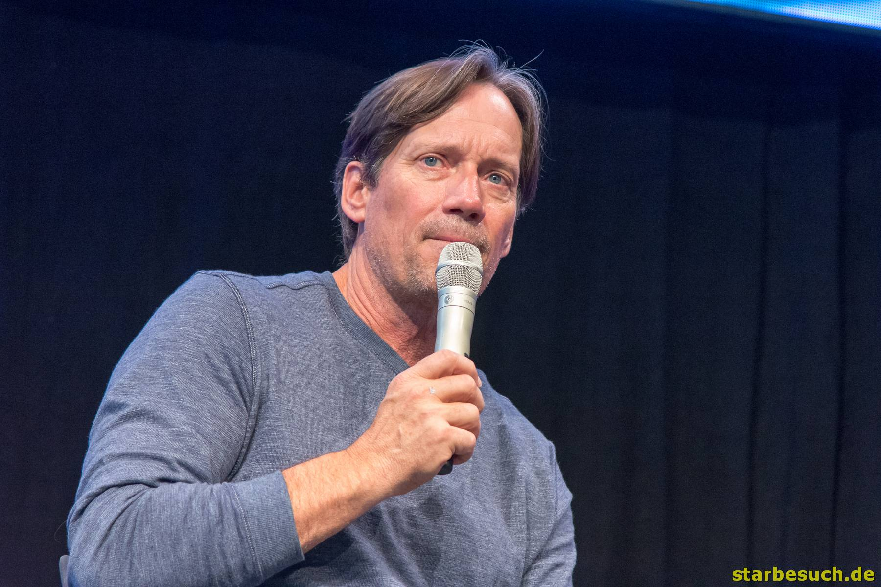 July 1st 2017. Stuttgart, Germany. US actor Kevin Sorbo (Xena: Warrior Princess, Andromeda) during his Comic Con panel. Comic Con Stuttgart