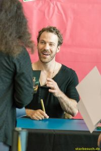 July 1st 2017. Stuttgart, Germany.Falk Herschel, DC: Legends of Tomorrow actor, signing autographs at Comic Con Stuttgart.
