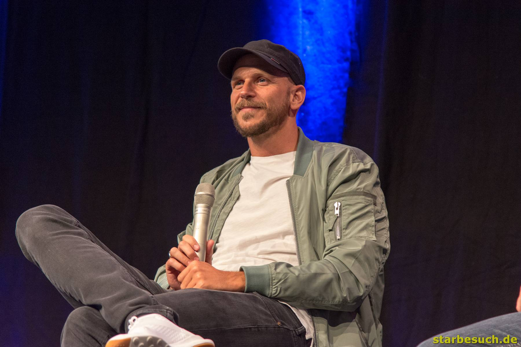 July 1st 2017. Stuttgart, Germany. Swedish actor Gustaf Skarsgard (Vikings) during his panel at Comic Con