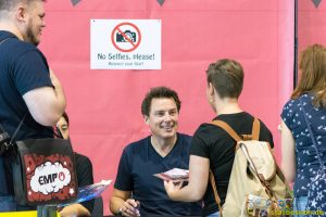 July 1st 2017. Stuttgart, Germany. John Barrowman (Torchwood, Doctor Who) signing autographs at Comic Con. Comic Con Stuttgart invites fans and cos-players to meet celebrities and comic artists in panels, Q&As, photo and signing sessions