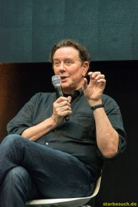 July 1st 2017. Stuttgart, Germany.  Beverly Hills Cop panel with John Ashton and Judge Reinhold at Comic Con. Comic-Con Stuttgart invites fans and cos-players to meet celebrities and comic artists in panels, Q&As, photo and signing sessions