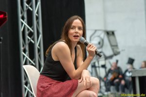 July 1st 2017. Stuttgart, Germany. Valene Kane, Lyra Erso in Star Wars: Rogue One. Comic-Con Stuttgart invites fans and cos-players to meet celebrities and comic artists in panels, Q&As, photo and signing sessions