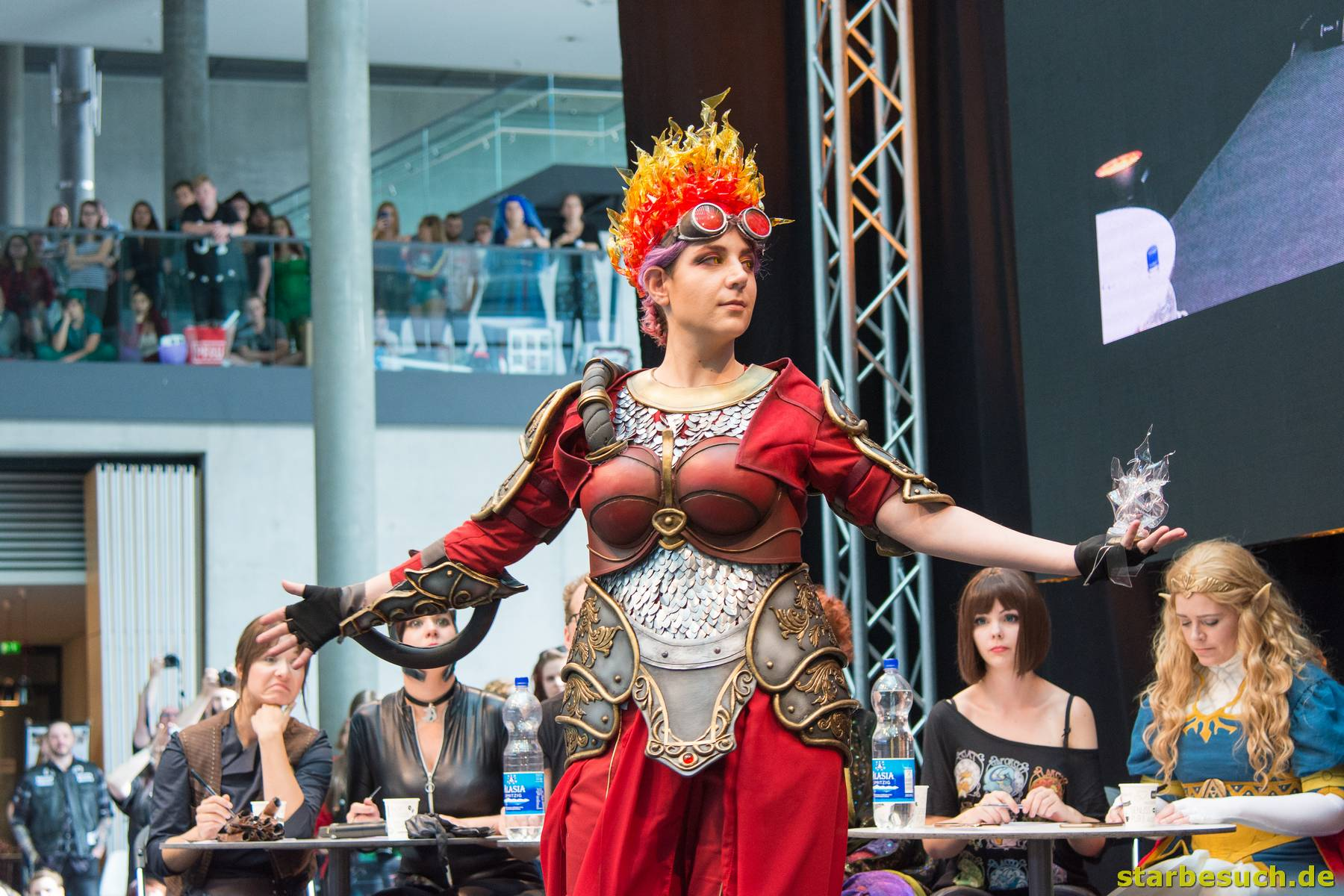 July 1st 2017. Stuttgart, Germany. Cosplay contest at Comic-Con Stuttgart. Comic-Con Stuttgart invites fans and cos-players to meet celebrities and comic artists in panels, Q&As, photo and signing sessions