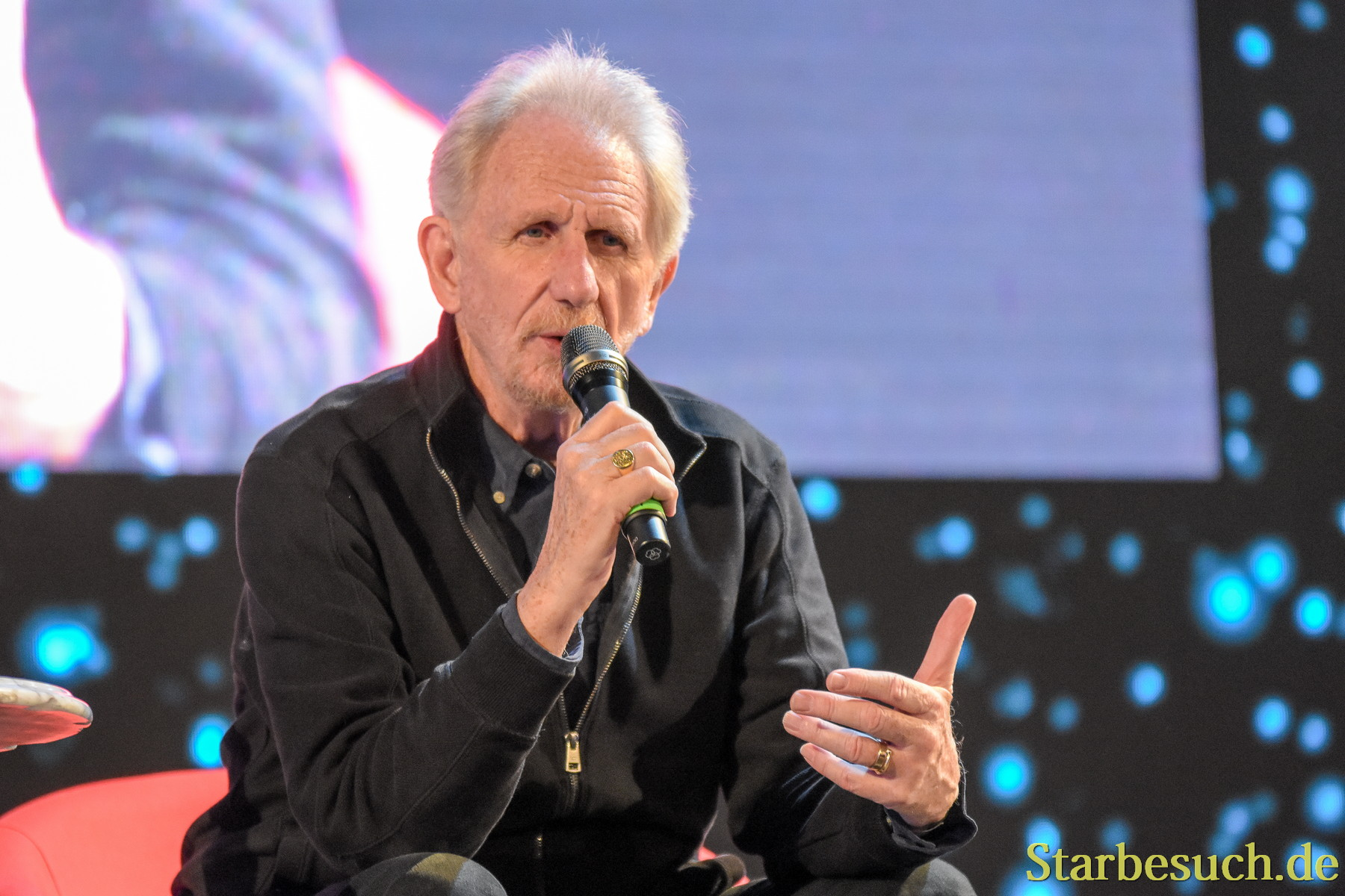 September 2nd, 2017. Mannheim, Germany. Rene Auberjonois, Odo in Star Trek: DS9, at his panel at Startopia.´Star Trek Actors and Trekkies get together at this convention in Mannheim, Germany