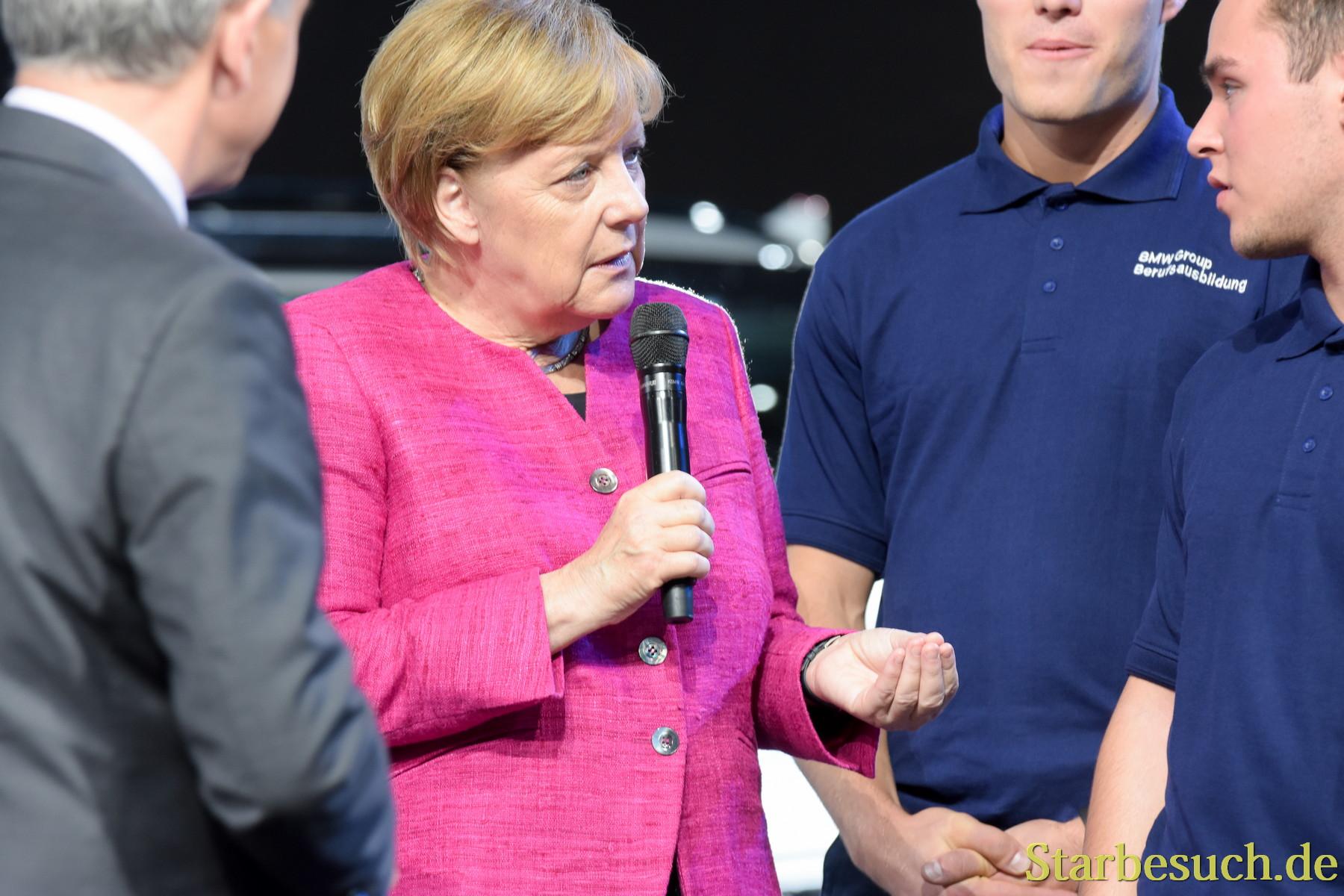 Angela Merkel  bei BMW