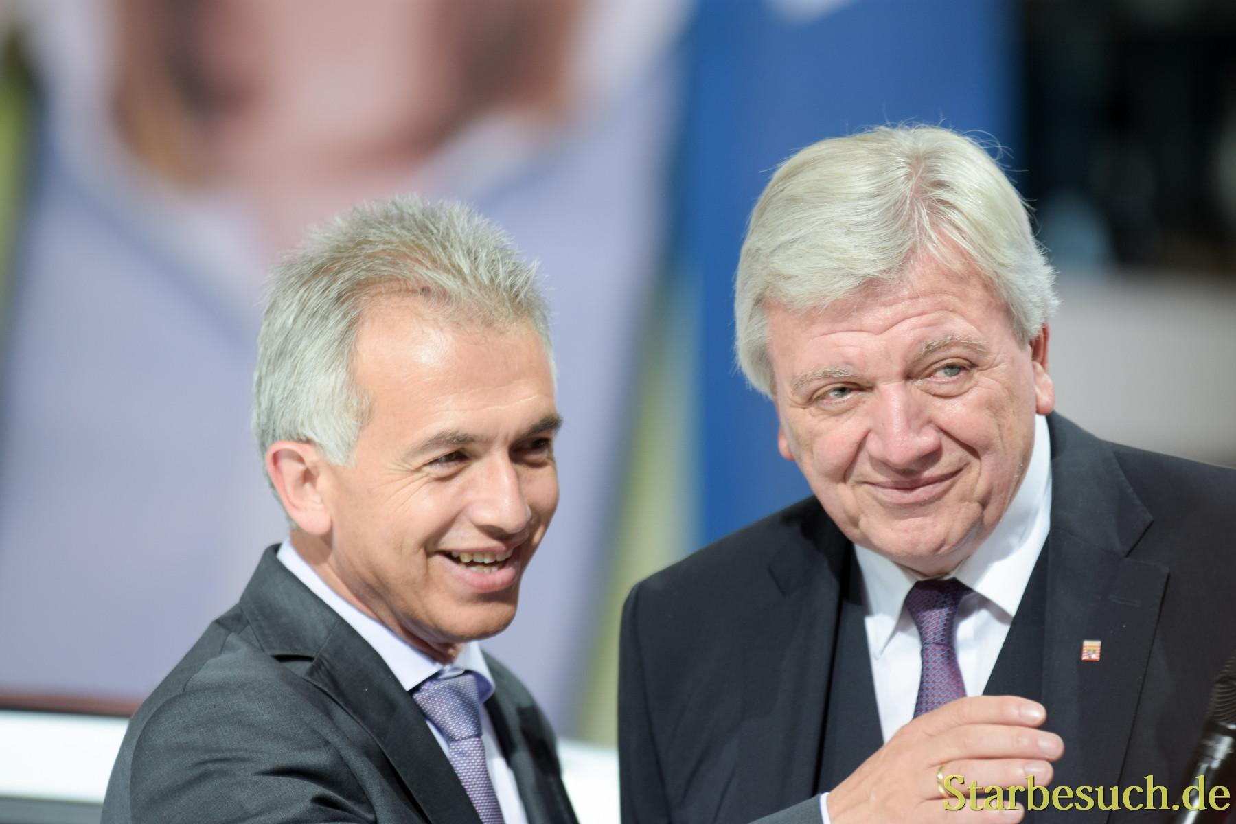 Peter Feldmann und Volker Bouffier