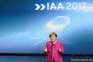 Angela Merkel, Ansprache am Ende der IAA Tour
