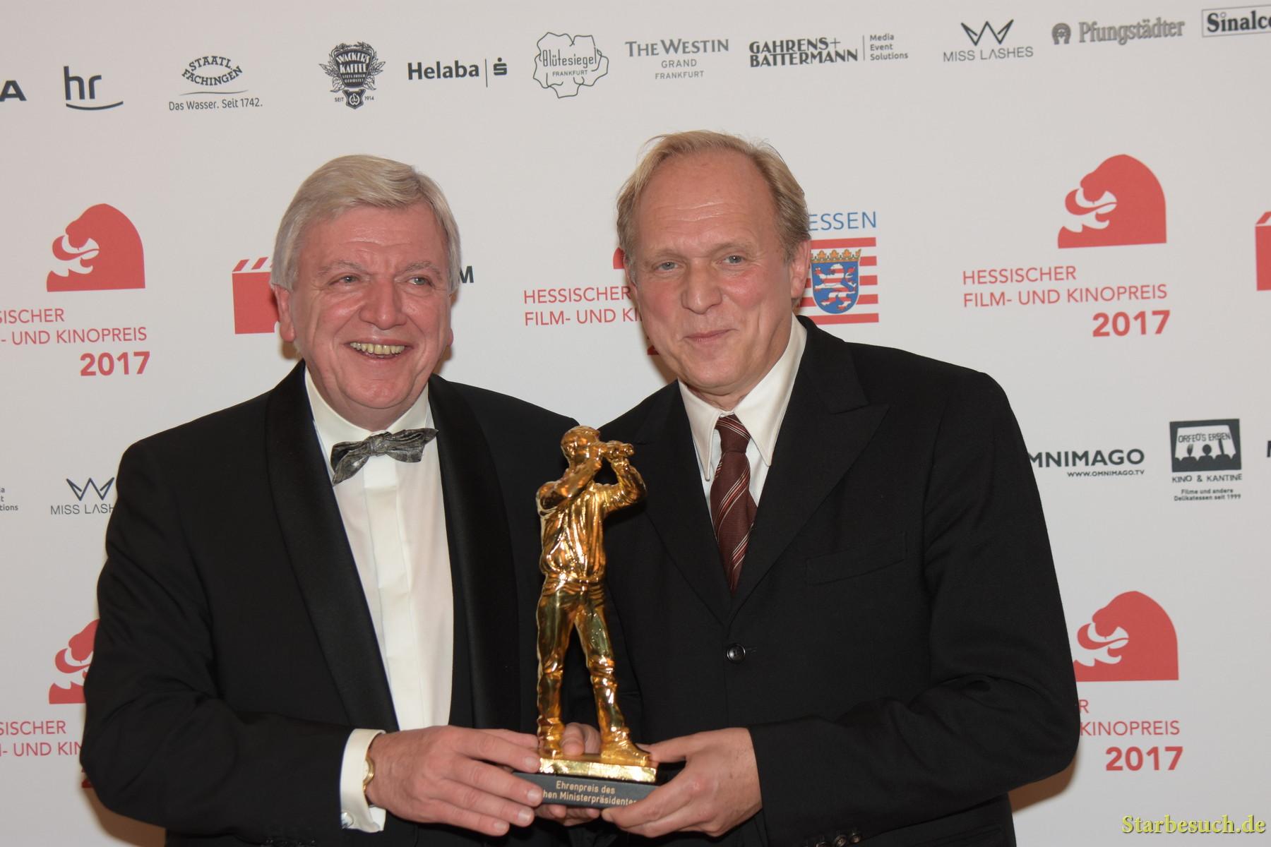 Volker Bouffier with Ulrich Tukur, german actor, Hessischer Film- und Kinopreis 2017, Alte Oper Frankfurt/Main, Germany