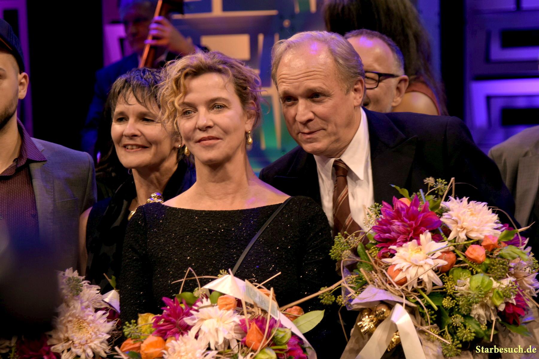 Margarita Broich (* 1960) and Ulrich Tukur (* 1957). Hessischer Film- und Kinopreis 2017, Alte Oper Frankfurt/Main, Germany