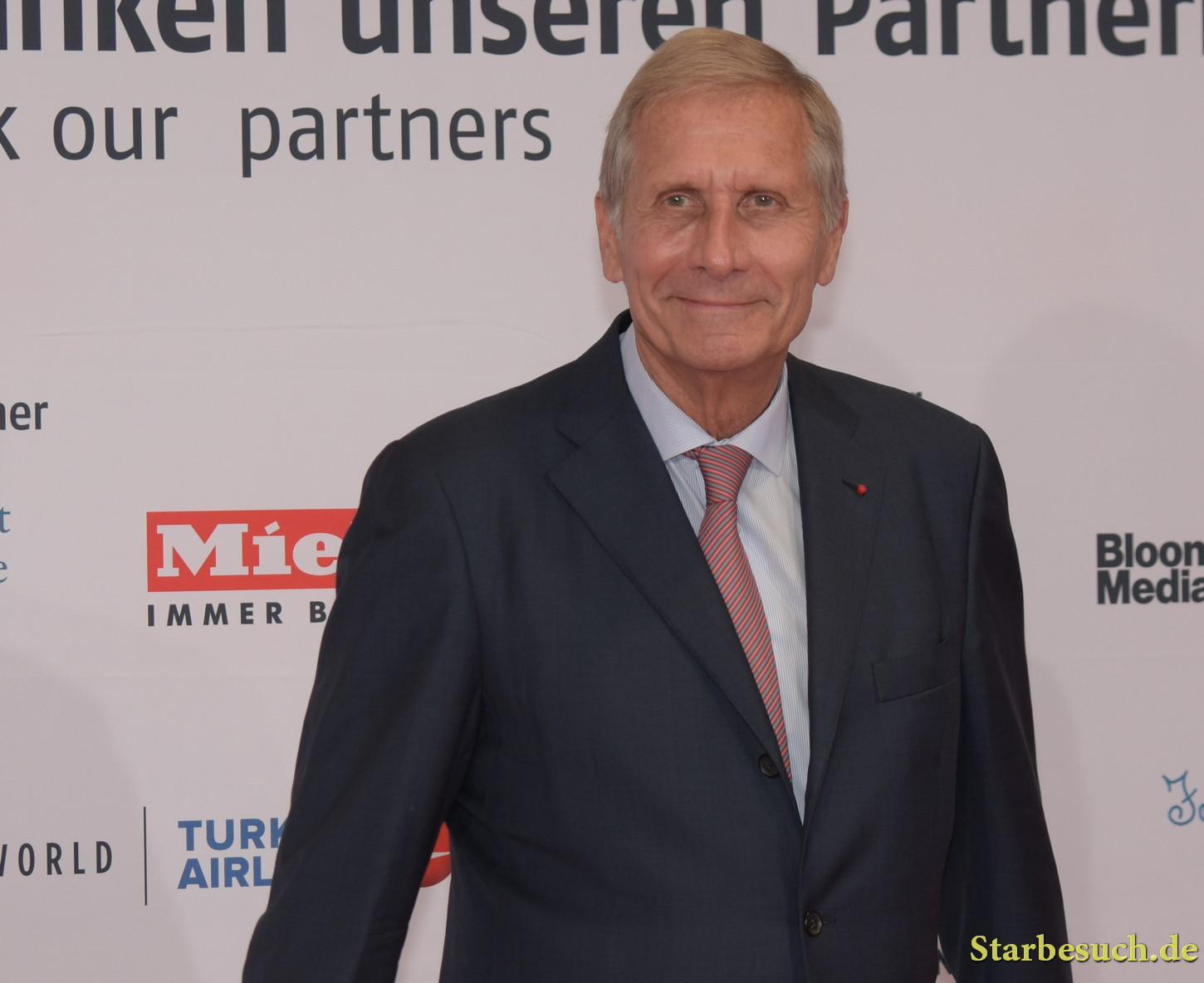 Ulrich Wickert arriving on the red carpet for the Frankfurt Bookfair / Buchmesse Frankfurt 2017