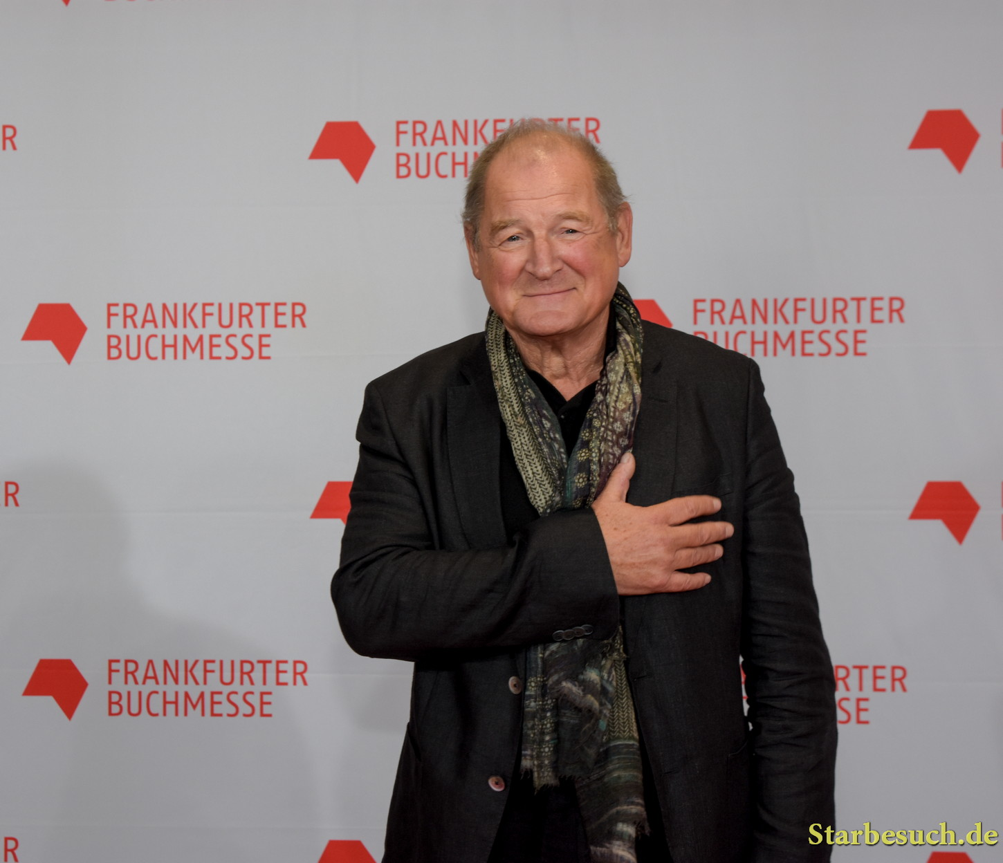 Burghart Klaussner arriving on the red carpet for the Frankfurt Bookfair / Buchmesse Frankfurt 2017