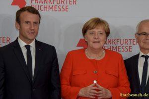 Emmanuel Macron, Angela Merkel Frankfurt Bookfair / Buchmesse Frankfurt 2017  opening ceremony