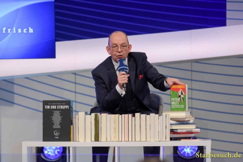 Denis Scheck, German literary critic and journalist at the Frankfurt Bookfair / Buchmesse Frankfurt 2017