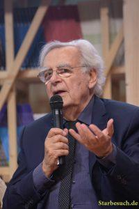 Bernard Pivot, french journalist, at the Prix Goncourt Prix Goncourt panel at Frankfurt Bookfair / Buchmesse Frankfurt 2017