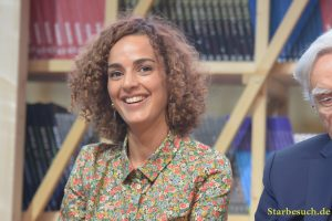 Leila Slimani, writer, at the Prix Goncourt panel at Frankfurt Bookfair / Buchmesse Frankfurt 2017