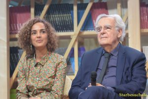 Leila Slimani & Bernard Pivot at the Prix Goncourt panel, Frankfurt Bookfair / Buchmesse Frankfurt 2017
