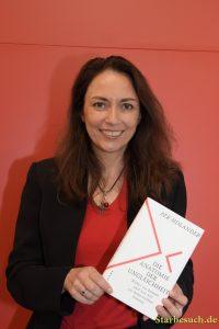 Yasmin Fahimi, german politician (SPD), preparing for a panel with Per Molander at the Frankfurt Bookfair / Buchmesse Frankfurt 2017