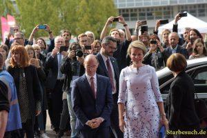 Queen Mathilde of Belgium visiting the Frankfurt Bookfair