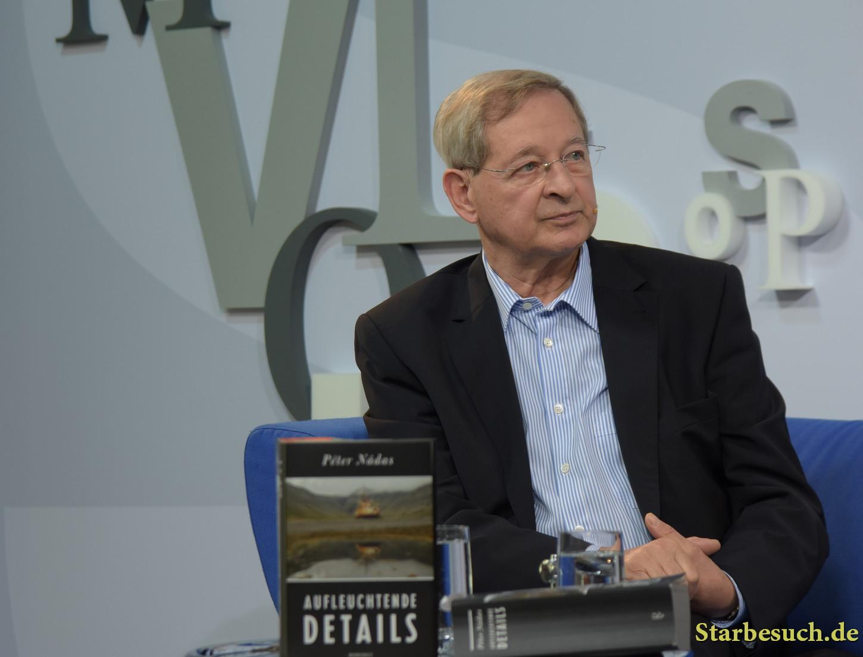 Peter Nadas, hungarian author, at 'Blaues Sofa', Frankfurt Bookfair / Buchmesse Frankfurt 2017