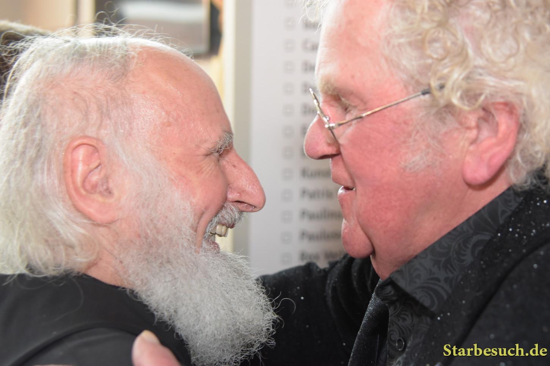 Anselm Grün, padre, with Ton Schulten, painter, at Frankfurt Bookfair / Buchmesse Frankfurt 2017