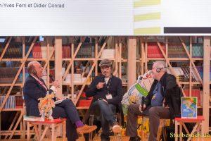Denis Scheck, Jean-Yves Ferri, Didier Conrad - Asterix Panel, Frankfurt Bookfair / Buchmesse Frankfurt 2017