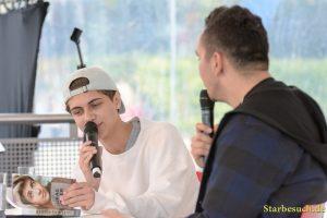 Lukas Rieger, singer, at Frankfurt Bookfair / Buchmesse Frankfurt 2017