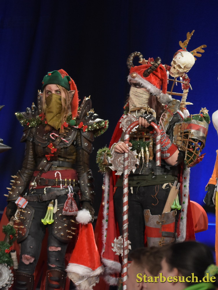 Cosplayers in Comic Con Europe Finals Contest at German Comic Con in Dortmund, Germany, on December 9th 2017.
