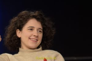 Dortmund, Germany - December 9th 2017: British Actress Ellie Kendrick (* 1990, Meera Reed in Game of Thrones, Anne Frank in 2009 BBC miniseries The Diary of Anne Frank) at German Comic Con Dortmund.