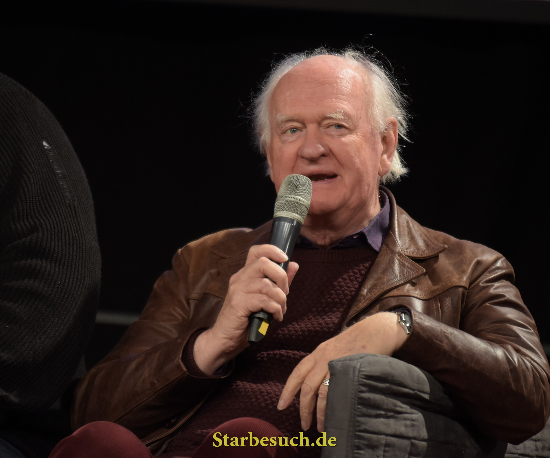 Dortmund, Germany - December 9th 2017: British Actor Oliver Ford Davies (* 1939, Star Wars: Episode I-III, Maester Cressen in Game of Thrones, Johnny English) at German Comic Con Dortmund.