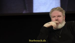 Dortmund, Germany - December 9th 2017: British Actor Kristian Nairn (* 1975, Hodor in the HBO fantasy series Game of Thrones) at German Comic Con Dortmund. More than 30 celebrities attended.
