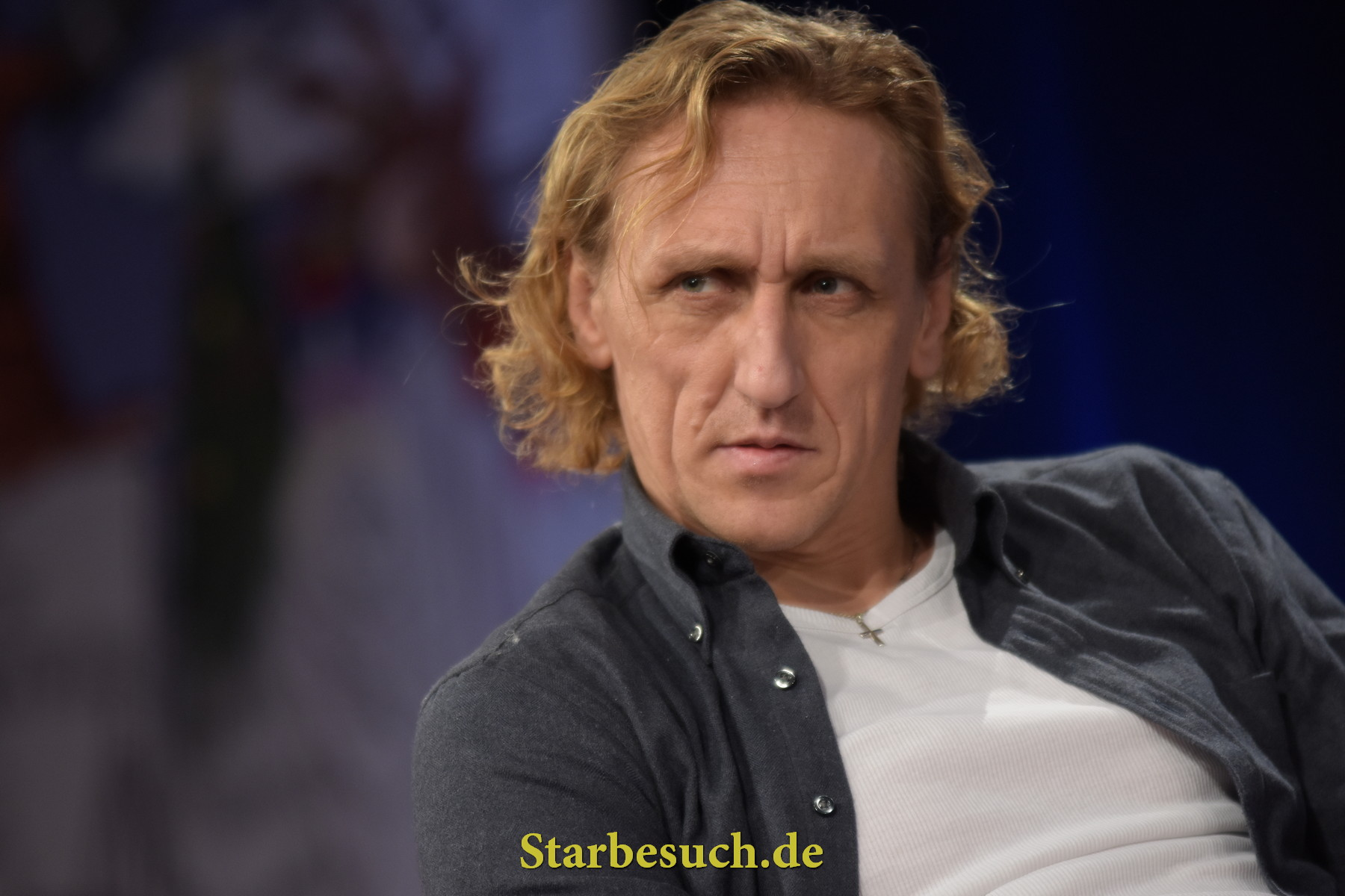 Dortmund, Germany - December 9th 2017: Actor and Stuntman Vladimir 'Furdo' Furdik (* 1970, The Night King in Game of Thrones; Stunts in James Bond: Skyfall) at German Comic Con Dortmund.