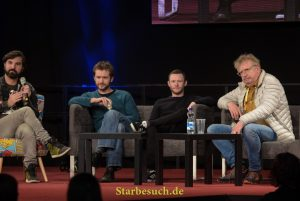 Dortmund, Germany - December 9th 2017: Harry Potter panel at the German Comic Con Dortmund. More than 30 celebrities attended the event to meet their fans, sign autographs and do photoshoots.