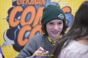 Dortmund, Germany - December 9th 2017: US Actor Finn Wolfhard (* 2002, Stranger Things, IT) at German Comic Con Dortmund. More than 30 celebrities attended the event to meet their fans