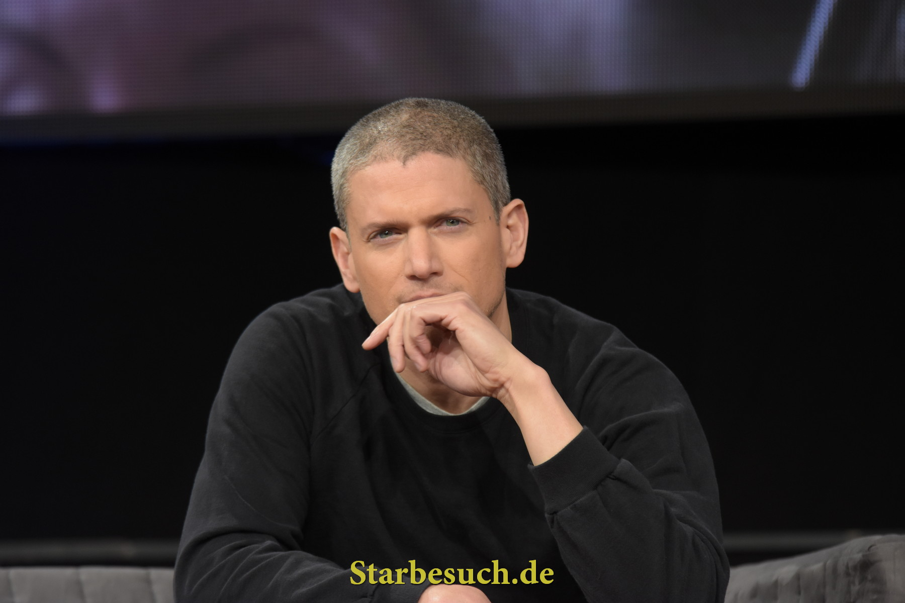 Dortmund, Germany - December 9th 2017: US Actor Wentworth Miller (* 1972, Prison Break, The Flash, DC's Legends of Tomorrow, Resident Evil: Afterlife) at German Comic Con Dortmund.
