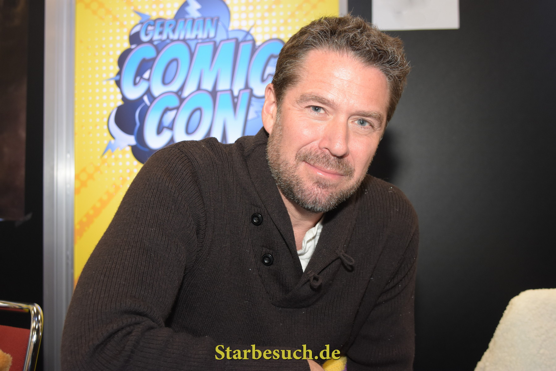 Dortmund, Germany - December 9th 2017: US Actor Alexis Denisof (* 1966, Buffy The Vampire Slayer, Angel, Guardians of the Galaxy, The Avengers, How I Met Your Mother) at German Comic Con Dortmund.