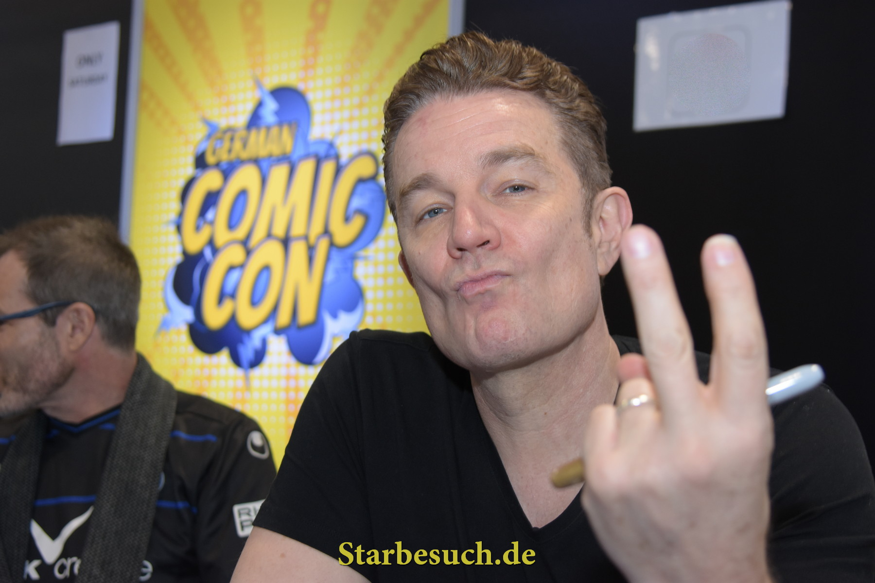 Dortmund, Germany - December 9th 2017: US Actor James Marsters (* 1962, Spike on Buffy The Vampire Slayer) at German Comic Con Dortmund. More than 30 celebrities attended the event.