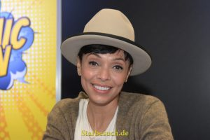 Dortmund, Germany - December 9th 2017: Canadian Actress Tamara Taylor (* 1970, Dr. Camille Saroyan in the tv series Bones) at German Comic Con Dortmund. More than 30 celebrities attended the event.