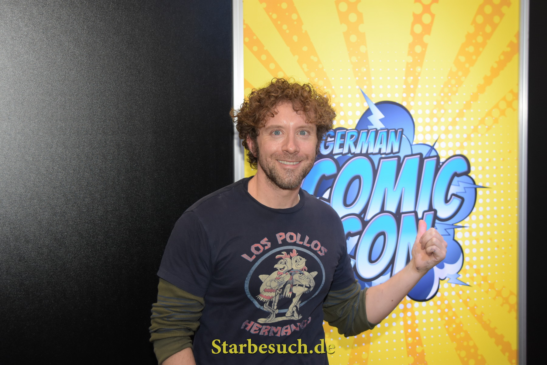 Dortmund, Germany - December 9th 2017: US Actor TJ Thyne (* 1975,  Dr. Jack Hodgins in the tv series Bones) at German Comic Con Dortmund. More than 30 celebrities attended the event.