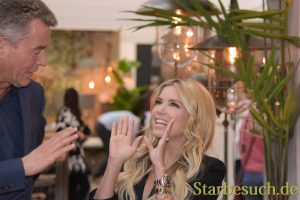 Frankfurt, Germany. 12th Feb, 2018. AMBIENTE: Model Sylvie Meis visits the AMBIENTE 2018 trade fair