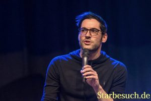 BONN, GERMANY - MARCH 24: Actor Tom Ellis (Lucifer), panel, at MagicCon, a three-day (March 23-25 2018) fantasy & mystery fan convention.