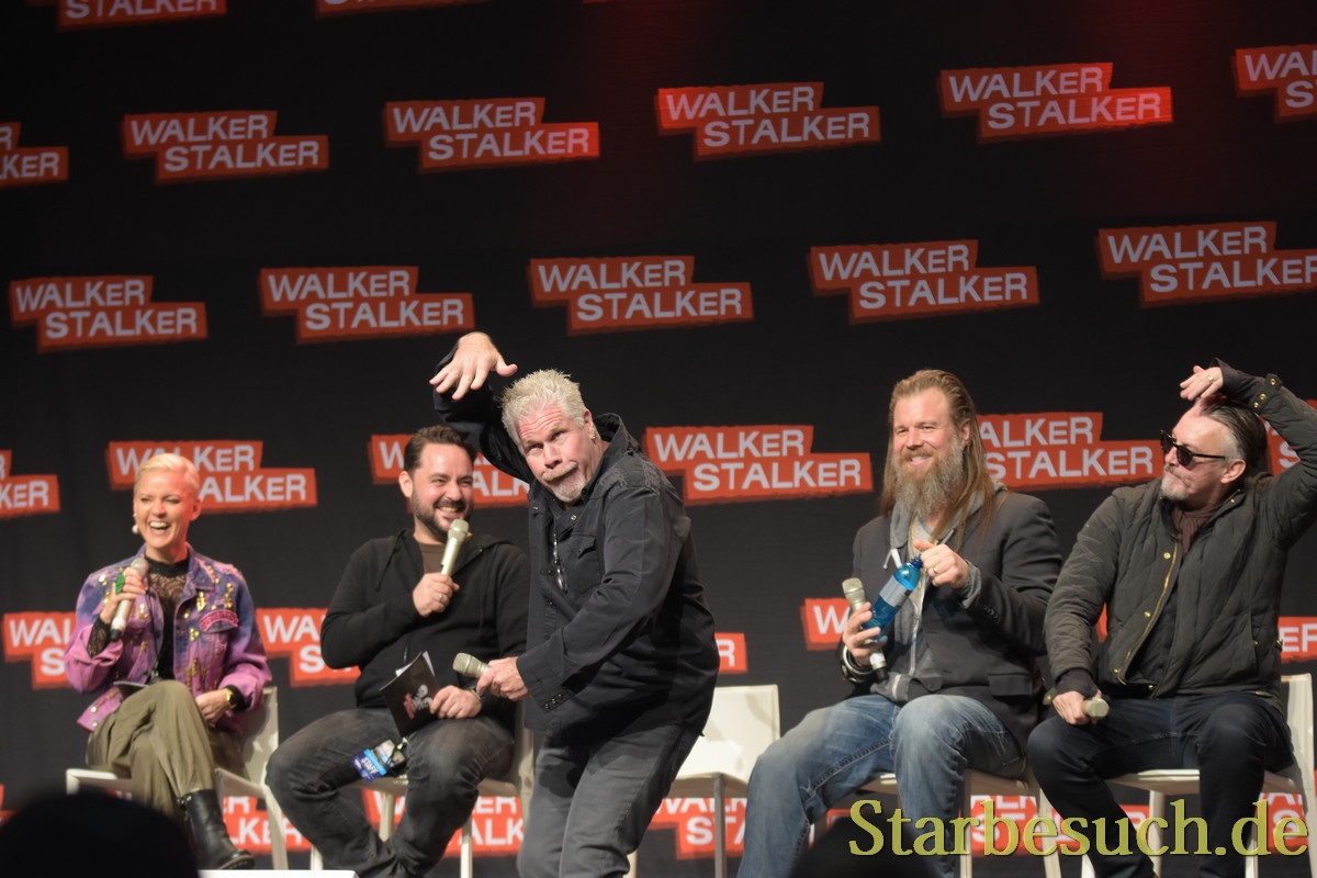 MANNHEIM, GERMANY - MARCH 17: (L to R) Actors , and (The Walking Dead) attend the Walker Stalker Germany convention.