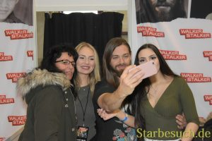 MANNHEIM, GERMANY - MARCH 17: Actor Tom Payne (Jesus on The Walking Dead) at the Walker Stalker Germany convention. (Photo by Markus Wissmann)
