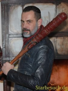 MANNHEIM, GERMANY - MARCH 18: 'Notorious Negan', professional Walking Dead Cos-Player at Walker Stalker Germany convention. (Photo by Markus Wissmann)