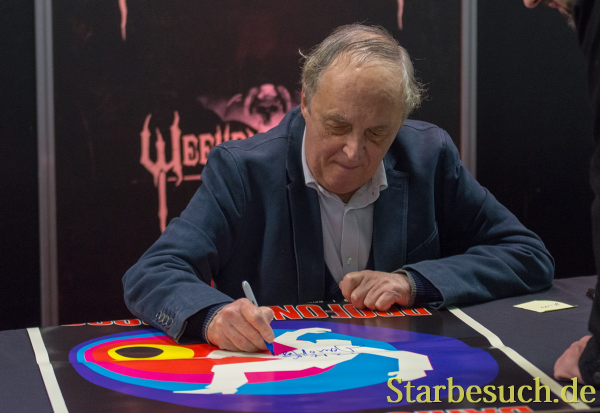 DORTMUND, GERMANY - APRIL 8: Director Dario Argento (Suspiria, Phenomena, Sleepless, Opera) at Weekend of Hell, a two day (April 7-8 2018) horror-themed fan convention.
