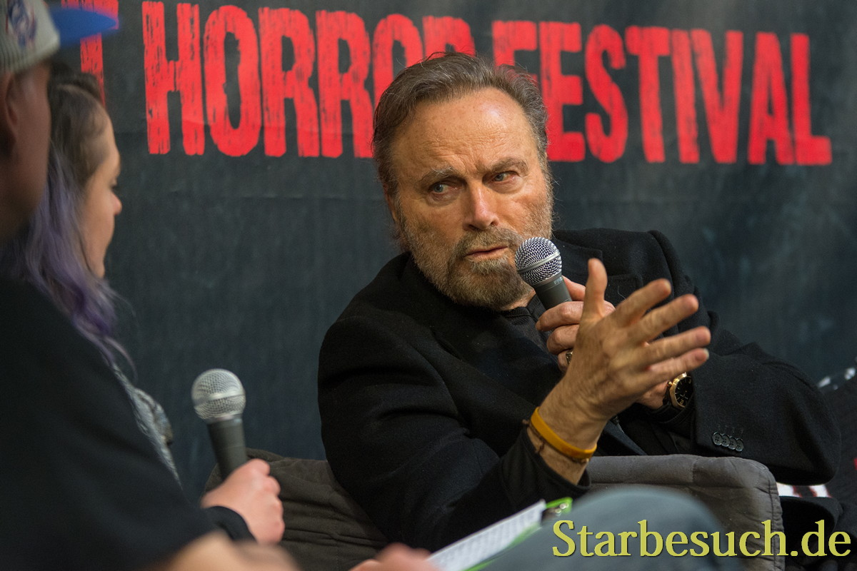 DORTMUND, GERMANY - APRIL 8: Actor Franco Nero (Django, Django Unchained, John Wick 2, Die Hard 2) at Weekend of Hell, a two day (April 7-8 2018) horror-themed fan convention.